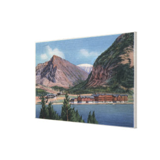 Glacier National Park, MT - Many Glacier Hotel Canvas Print