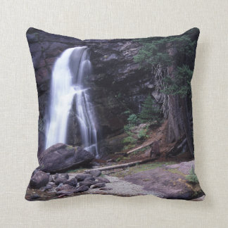 Glacier National Park Waterfall Throw Pillow