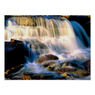 Glacier National Park Waterfalls Poster