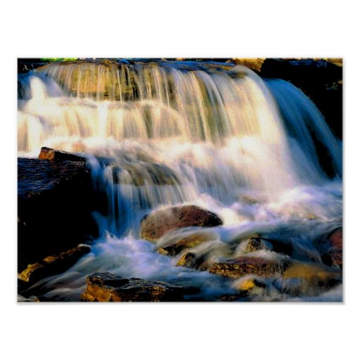 Glacier National Park Waterfalls Poster