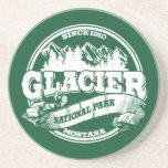 Glacier Old Circle Green Beverage Coaster