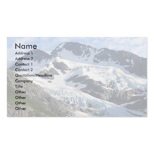 glacier pack of standard business cards