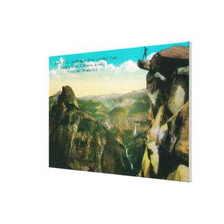 Glacier Point, Half Dome, and Yosemite Valley Canvas Print
