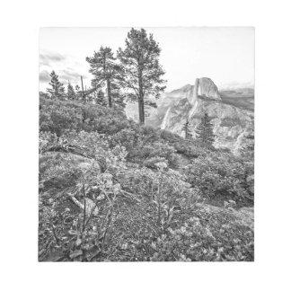 Glacier Point Sunset (Black & White) Memo Notepad
