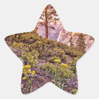 Glacier Point Sunset (Horizontal) Star Sticker