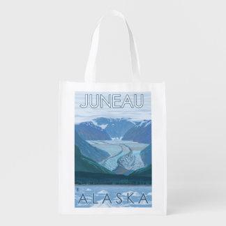 Glacier Scene - Juneau, Alaska Reusable Grocery Bag