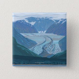 Glacier Scene - Seldovia, Alaska 15 Cm Square Badge