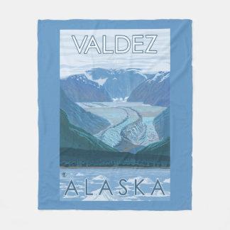 Glacier Scene - Valdez, Alaska Fleece Blanket