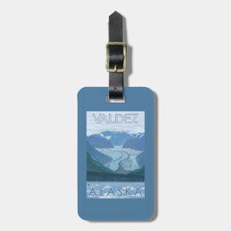 Glacier Scene - Valdez, Alaska Luggage Tag