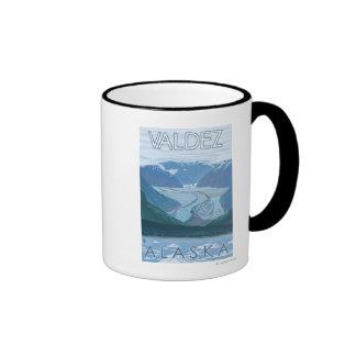 Glacier Scene - Valdez, Alaska Mugs