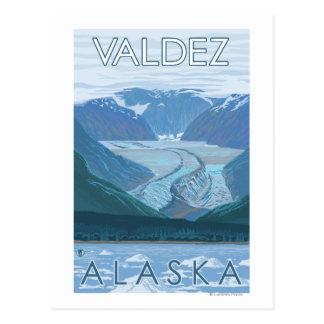 Glacier Scene - Valdez, Alaska Post Cards