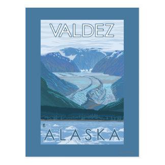 Glacier Scene - Valdez, Alaska Postcard