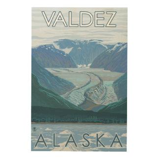 Glacier Scene - Valdez, Alaska Wood Canvas
