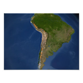 Glaciers in regions of South America Photo