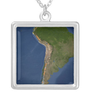 Glaciers in regions of South America Silver Plated Necklace