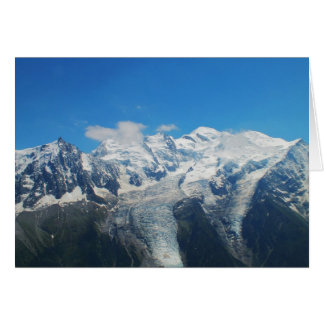 Glaciers on Mont Blanc Greeting Cards