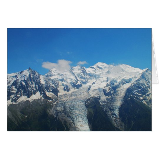Glaciers on Mont Blanc Card