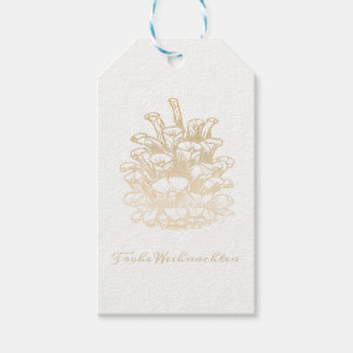 Glad Christmas Kiefernzapfen I Gift Tags