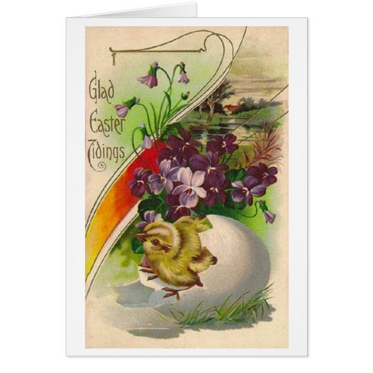 Glad Easter Tidings! Victorian Easter Card