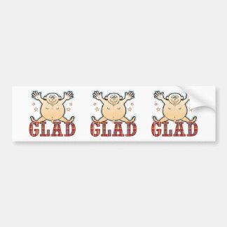 Glad Fat Man Bumper Sticker