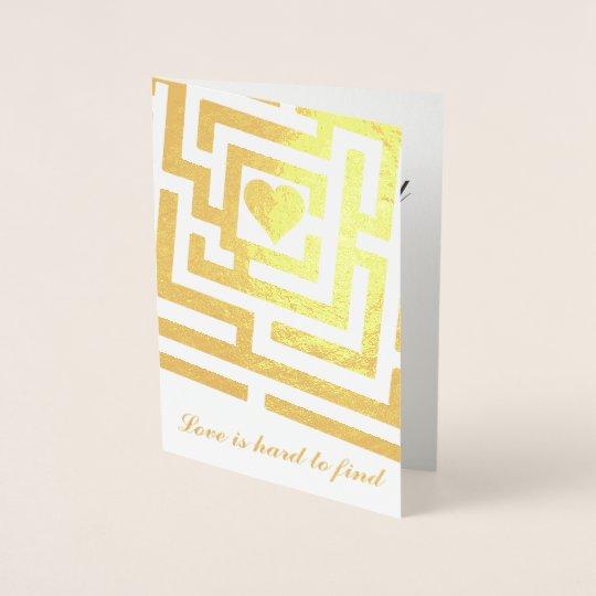 Glad I Found You Romantic Heart in Maze