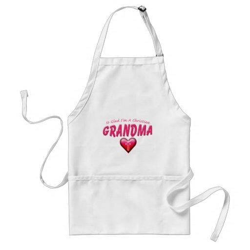 Glad Im Christian Grandma Aprons