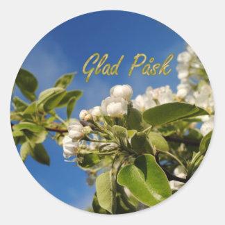 Glad Påsk Round Sticker