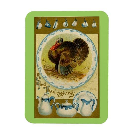 Glad Thanksgiving Turkey Rectangular Photo Magnet