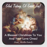 Glad Tidings of Great Joy Custom Sticker