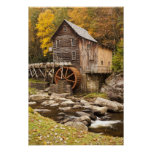 Glade Creek Grist Mill, Babcock State Park, Poster