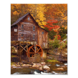 Glade Creek Grist Mill Photo Print
