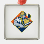Gladiator With Sword And Shield Christmas Tree Ornaments
