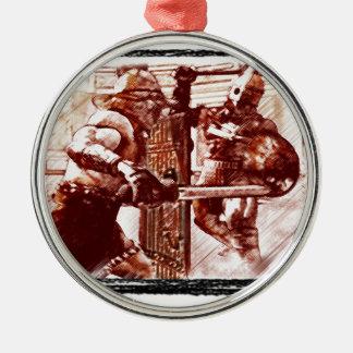 Gladiators in Arena Christmas Ornament