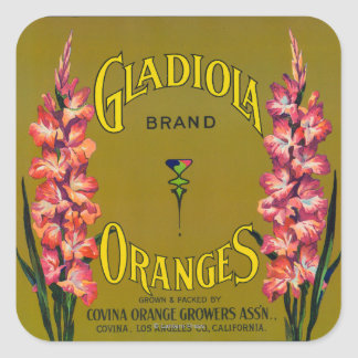 Gladiola Brand Citrus Crate Label