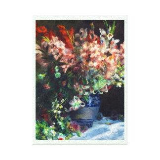 Gladioli in a Vase Pierre Auguste Renoir painting Canvas Print