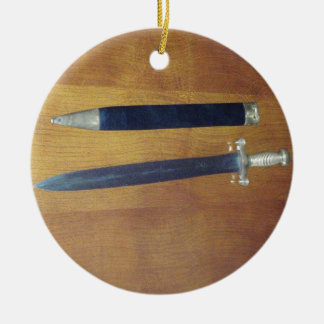 Gladius Pattern Sword Christmas Tree Ornament