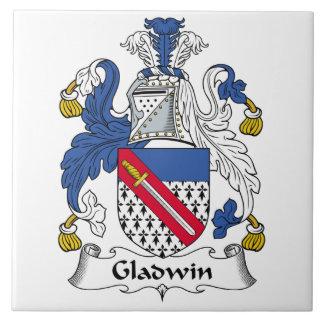 Gladwin Family Crest Large Square Tile
