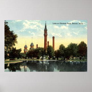 Gladwin Park Detroit Repro Vintage 1912 Poster