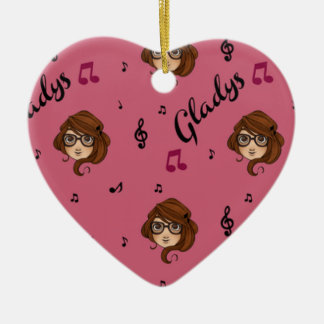 Gladys  Merchandise Ceramic Heart Decoration