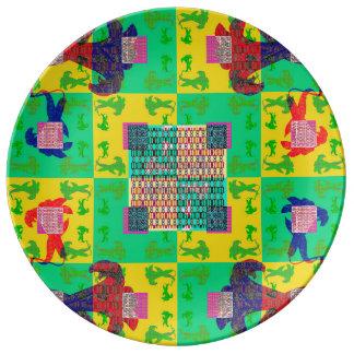 GLAGOLITIC LILIES- POP [kitchen] Porcelain Plate