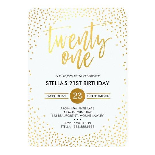 GLAM 21ST BIRTHDAY PARTY mini gold confetti black