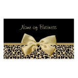 Glam Black And Gold Leopard Print Gold Ribbon