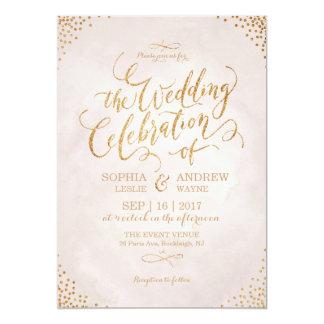 Rose Gold Wedding Invitations Announcements Zazzlecouk