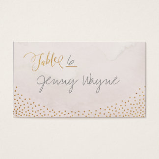 Glam blush rose gold glitter place cards