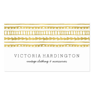 Glam Boho Chic | Faux Gold Foil Pack Of Standard Business Cards
