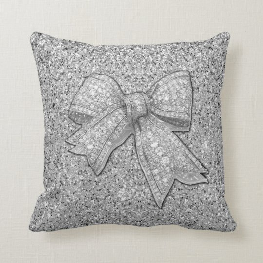 Glam Bow Pillow. Cushion