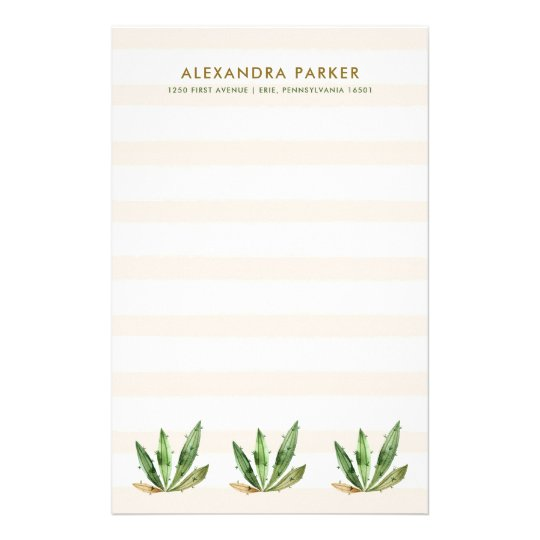 Glam Cactus | Neutral Desert Stripes Stationery