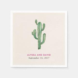 Glam Cactus Wedding Disposable Napkin