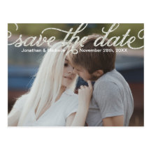 Glam Calligraphy | Photo Save the Date