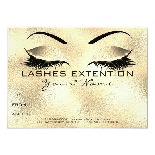Glam Eyebrow Lashes Beauty Makeup Certificate Gift Card